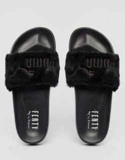 Тапочки Fenty Puma By Rihanna Leadcat Black