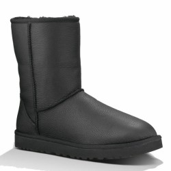 Мужские ugg Classic Short Black Leather