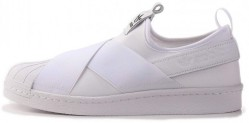Женские слипоны Adidas superstar slip on white trainers B493