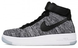 """Кроссовки Nike Air Force Flyknit Mid """"Gray"""" A336"""