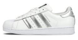 Женские кеды Adidas Originals Superstar White Silver